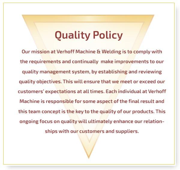 Verhoff Machine Amp Welding Quality Assurance